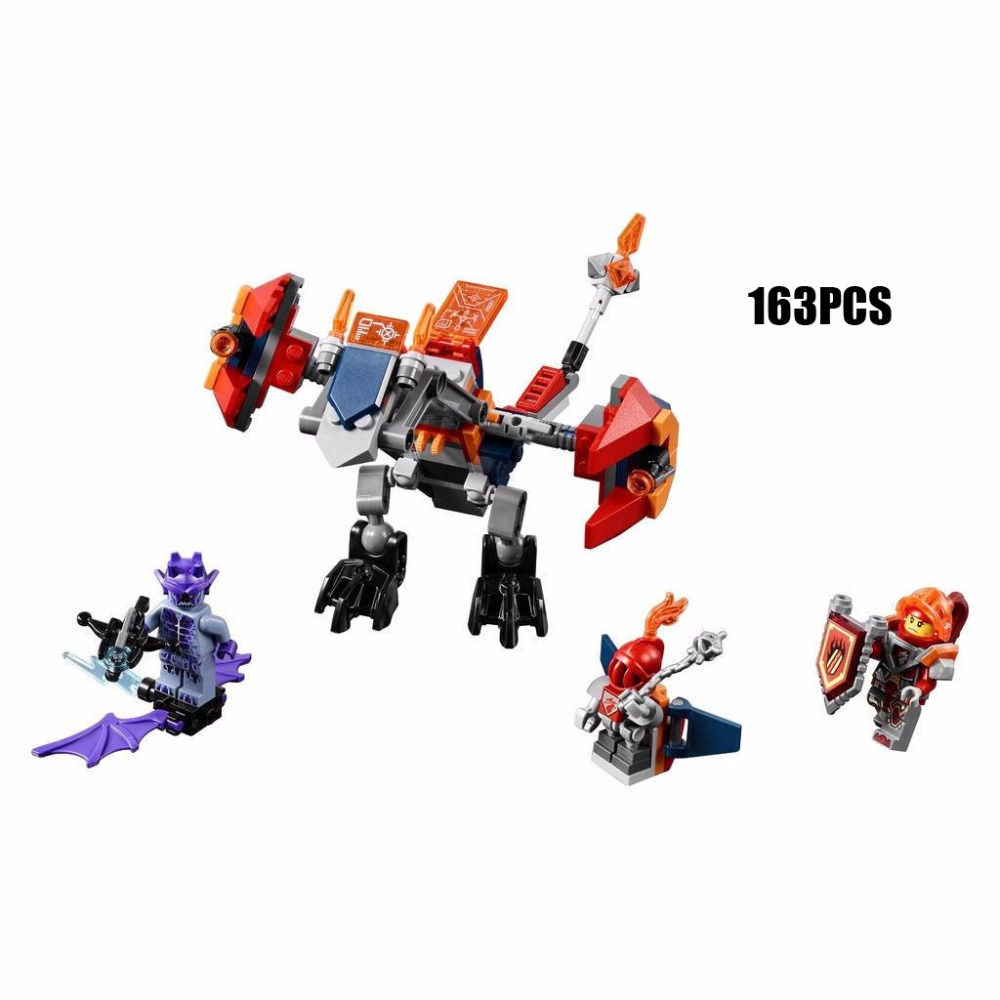 2017 Next cavalier nexus knights Macy Bot drop dragon mech building block mini stone devil robot figures lepins brick 70361 toys футболка print bar роршах