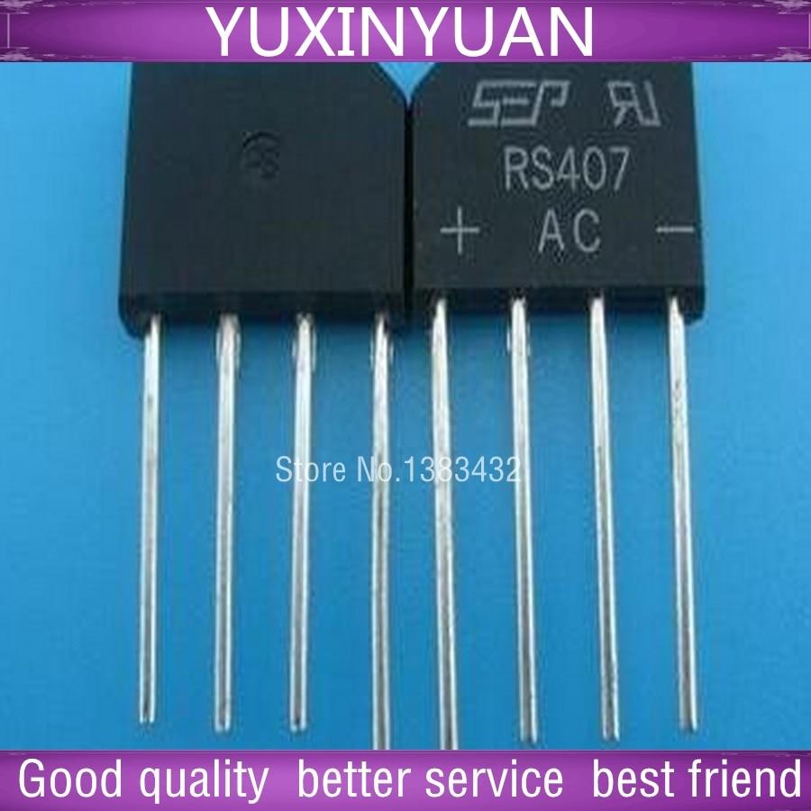 10 PCS/LOT RS407 rectifier bridge 4 a700v upright DIP rectifier bridge pile AliExpress()