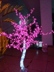 Envío Gratis 5 pies 1,5 M LED Navidad Año Nuevo Fiesta vacaciones LED cristal claro Árbol de flor de cereza Color rosa impermeable IP65