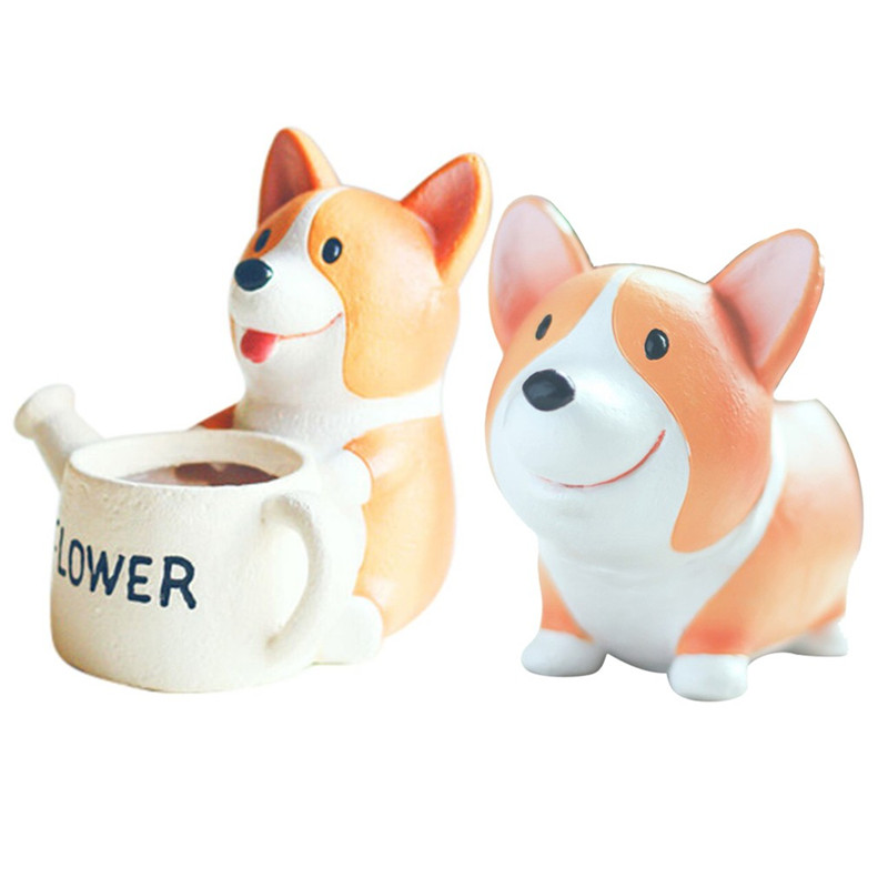 Image 4 - Lovely Corgi Dog Shaped Plant Decor Succulent Plants Decorative Flower Pot garden small planter succulent guardian-in Flower Pots & Planters from Home & Garden