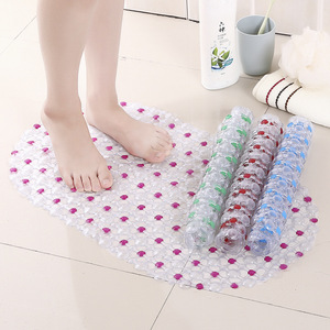Image 2 - Non Slip PVC Bath Mat For Toilet Bath Mats Shower Bathroom Carpet Suction Anti Slip Sucker Bathroom Carpet Set Bath Mat Decor