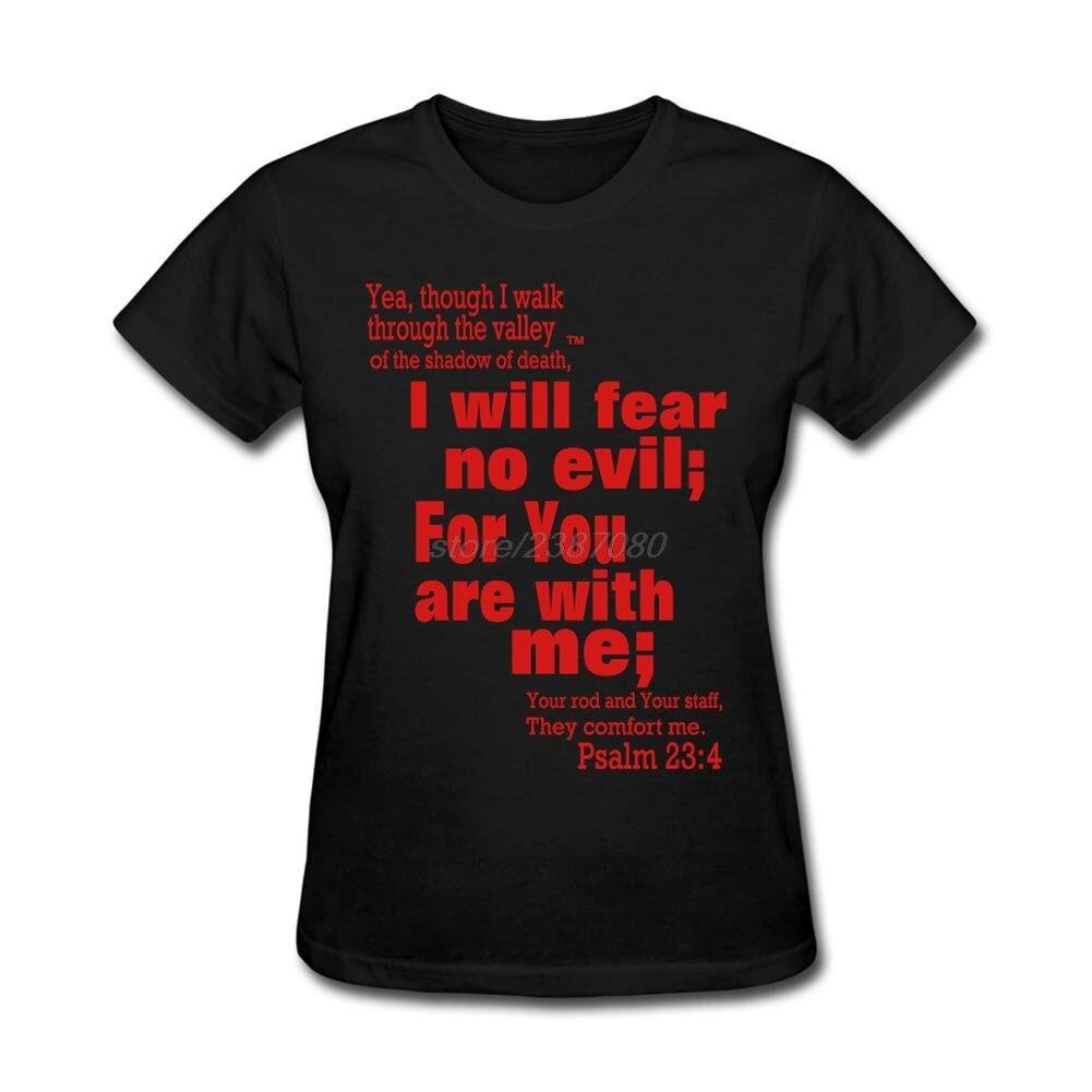 Desain t shirt kerah - Normal 100 Cotton Tee Shirts Womens Mazmur 23 4 T Shirt Desain Membuat Pemuda