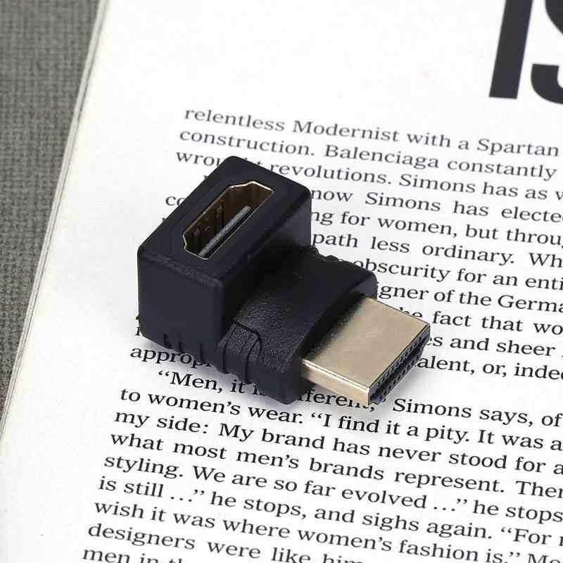 ALLOYSEED Vertical HDMI convertidor de macho a hembra Cable adaptador extensor conector para 1080P FHD Video en Monitor y proyector