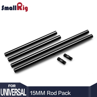 SmallRig 15mm Rods Pack with M12 Thread Rod Cap Connectors Aluminum Alloy Rods Combination Camera Rail Rod (2 Pairs Pack) 1659