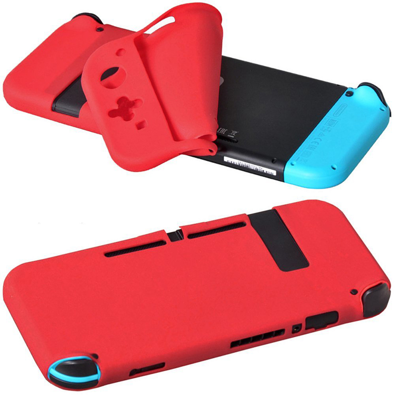 Game Accessories for Nintend Switch Silicone Case Protector Multicolor Cover Anti-Crush Sweatproof for Nintend Switch Console