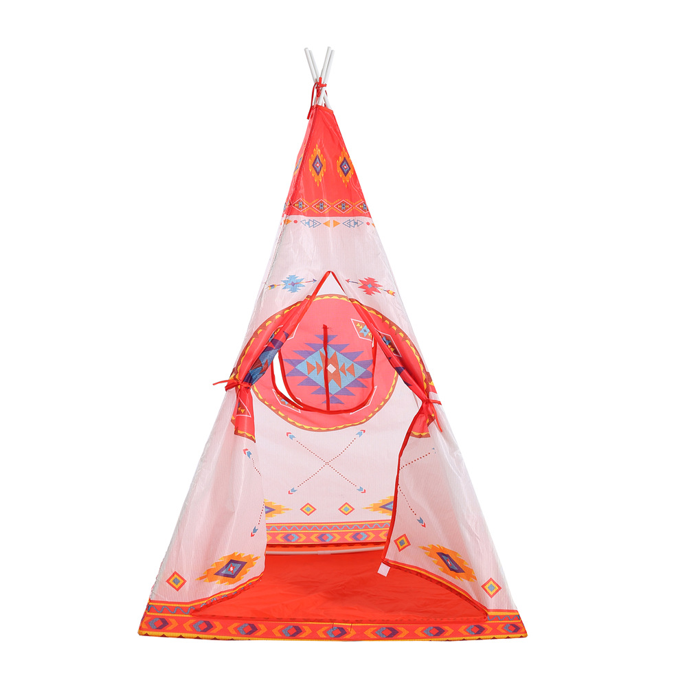 Kids Teepee Tent Tipi Tent for kids blue Children Play house Toy Kids Tents baby room Cartoon Indoor Outdoor Play Folding Tent mushroom kids play hut pink blue children toy tent baby adventure game room indoor outdoor playhouse
