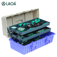 LAOA 23 шт. 55 шт. 56 шт. пластиковая коробка для инструментов 3 слоя с ремонтом набор инструментов телекоммуникации набор инструментов для бытово