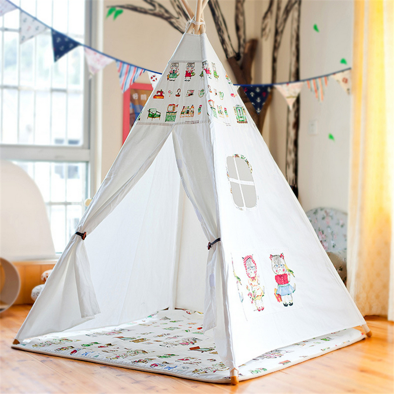 Kids Tent Camping Children Indoor Playroom Toy Room Pet Nest Folding Princess Cartoon Castle Baby Tent Game Room Christmas Gift mushroom kids play hut pink blue children toy tent baby adventure game room indoor outdoor playhouse