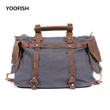 Retro style Men Bag Canvas Messenger Bag Business Casual Briefcase Crossbody bag male shoulder bag free shipping