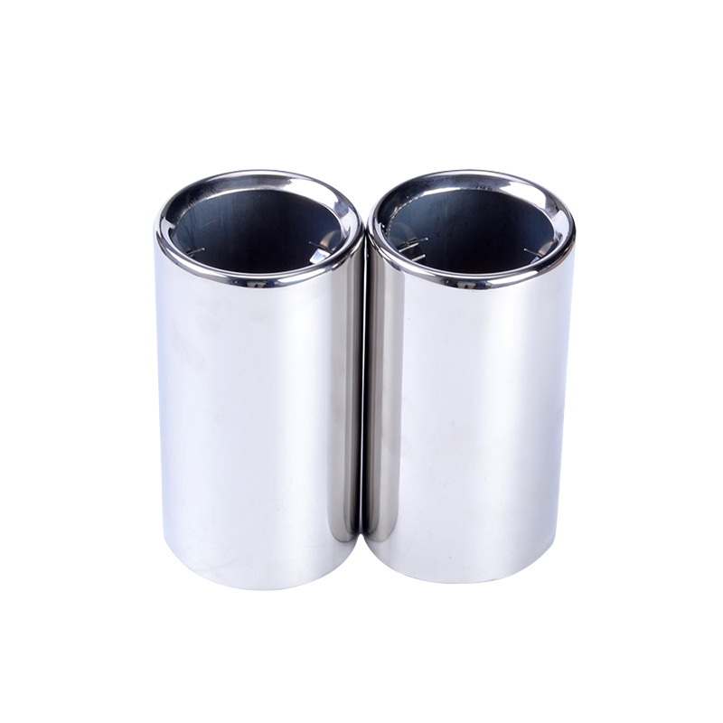 Evil Energy High Quality 2Pcs Stainless Steel Exhaust Tip Exhaust Tail Pipe Tip Exhause Muffler For BMW 325i 328i