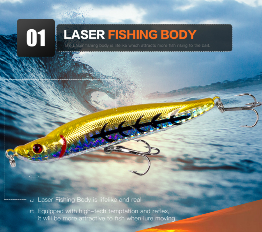 Thritop New Hard Bait Fishing Lure Sharp Hook 9.3cm 16g Hot - თევზაობა - ფოტო 5