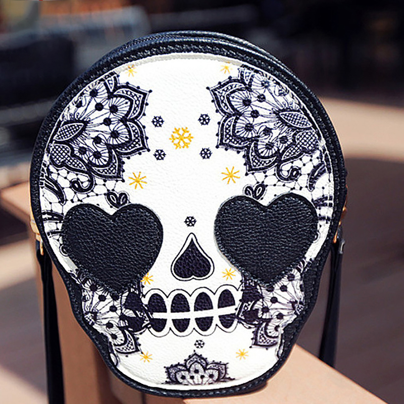 Fashion Skull Bags Women Messenger Shoulder Bag Restoring Ancient Ways In Europe Zipper Lady Briefcase Leather Handbags