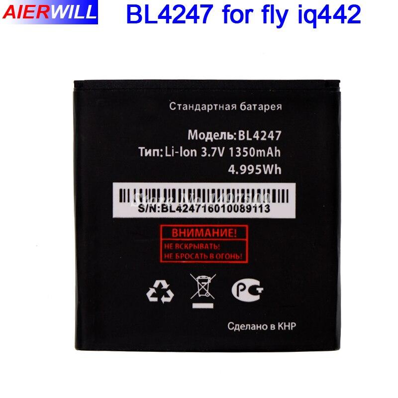 <font><b>Bl4247</b></font> Батарея для Fly <font><b>IQ442</b></font> <font><b>iq442</b></font> Чудо 1 аккумулятор 1350 мАч высокое качество
