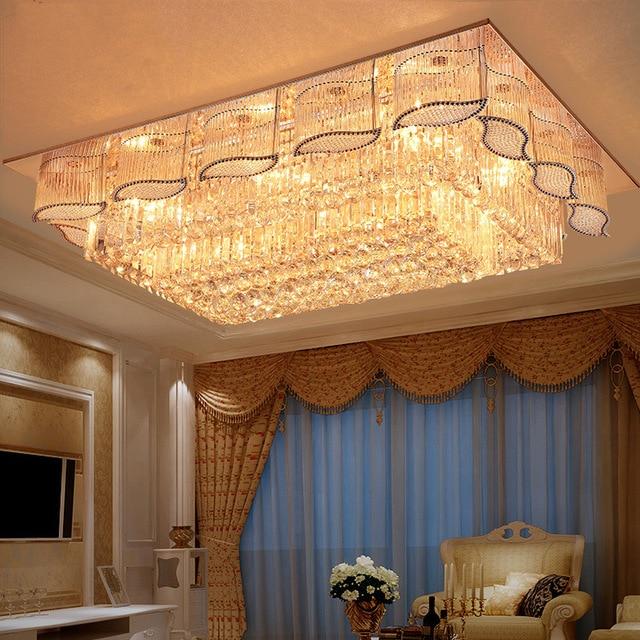 US $262.7 29% OFF|Gold Kristall Decken Lampe Wohnzimmer Plafonnier led  Deckenleuchte Leuchte Plafonnier led Moderne Plafondlamp Decke Lichter in  Gold ...