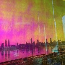 3 м качество красный Дихроичные переливающийся фильм отделка для Стекло окна и акриловые панели 68 см X 30 м в roll