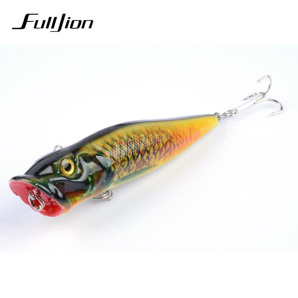 Fulljion Fishing Lures Popper Painting Series Hard Baits Wobblers - Fiske - Bilde 3