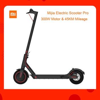 AB stok Küresel sürüm Xiaomi Mijia Katlanır Elektrikli Scooter 300 W Motor max yük 100 kg 8.5 Inç Lastik 45 KM Kilometre Menzili