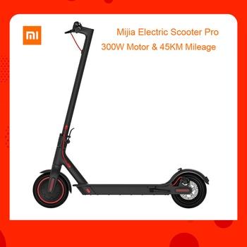 AB stok Küresel sürüm Xiaomi Mijia Katlanır Elektrikli Scooter 300W Motor max yük 100kg 8.5 Inç Lastik 45KM Kilometre Menzili