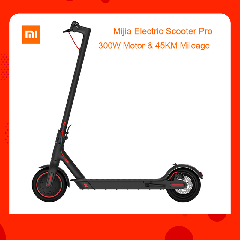Estoque Global DA UE verision Xiaomi Mijia Dobrar Scooter Elétrico Pro 300 W carga máxima 100 kg 8.5 Polegada Pneu Do Motor 45 Quilometragem KM Gama