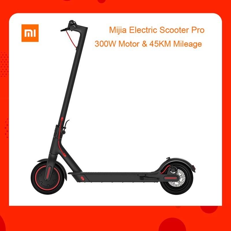 Ue stock mondial verision Xiaomi Mijia pliant Scooter électrique Pro 300 W moteur charge max 100 kg 8.5 pouces pneu 45 KM kilométrage gamme
