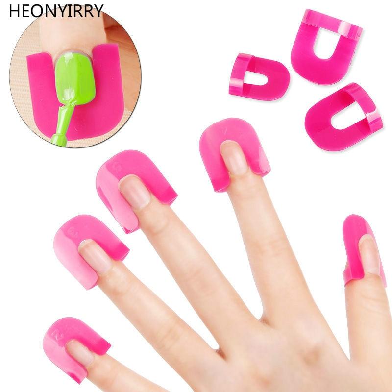 цена на 26 Pcs Nail Polish Edge Anti-Flooding Plastic Template Clip Manicure Tools Set Full Nail Wrap Nail Form Art Tools Tips for Nails