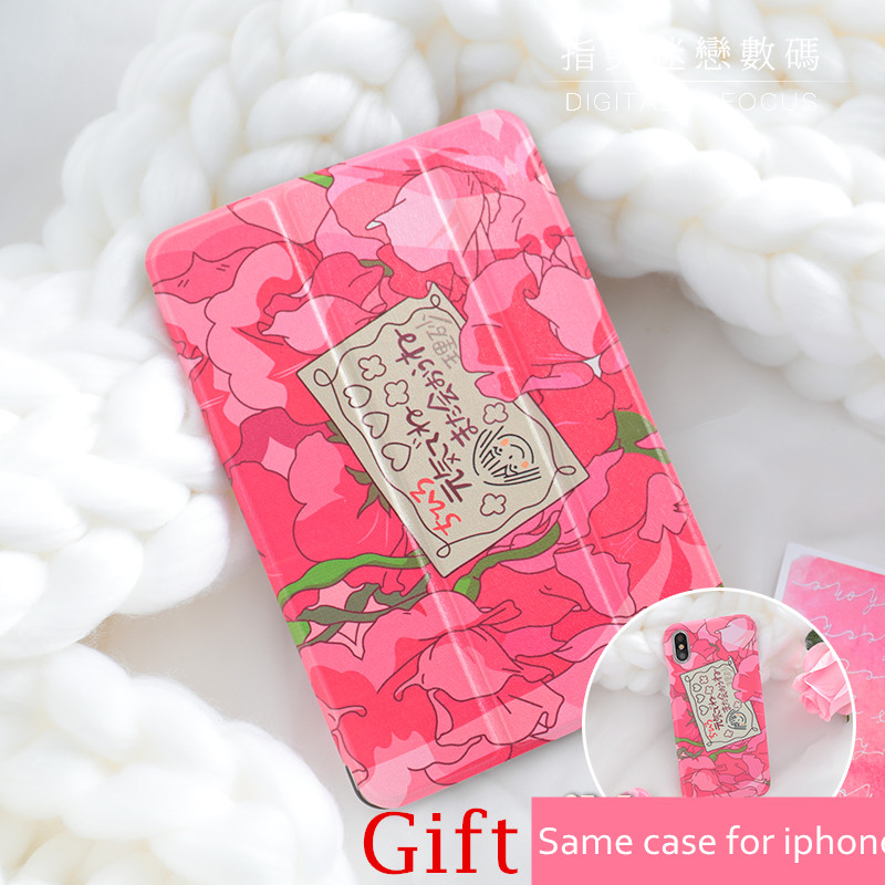 Pink Girl Magnet PU Leather Case Flip Cover For iPad Pro 9.7 10.5 Air Air2 Mini 1 2 3 4 Tablet Case For New ipad 9.7 2017 IPAD4 jialong mini 4 smart pu leather case for apple ipad mini 4 7 9 tablet flip cover soft tpu back cover cute little girl yao
