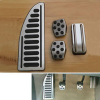 Auto Stainless M T Foot Pedal Set Foot Rest Cover Pedal Pad Kit Fit For Focus