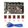 MKS Gen V1.4 Motherboard Placa de Controle Da Impressora 3D de MEGA2560 + RAMPS 1.4 Com Cabo USB + 5 PCS A4988 Motor de passo