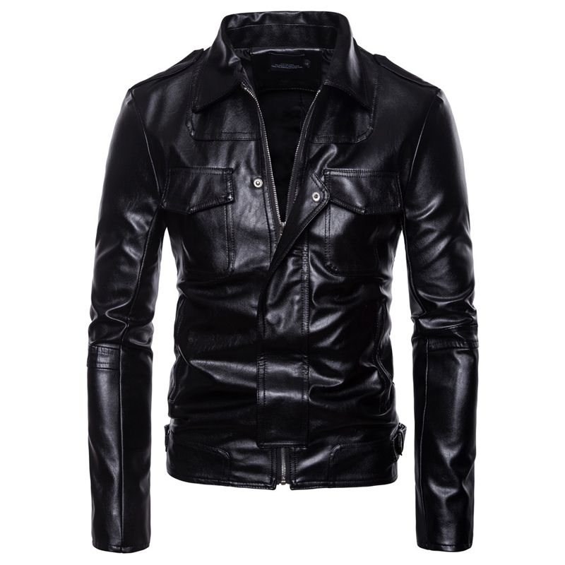 Brand Motorcycle Leather Jackets Men Autumn Winter Plus size Leather Clothing Men Leather Jackets Male Business Casual Coats