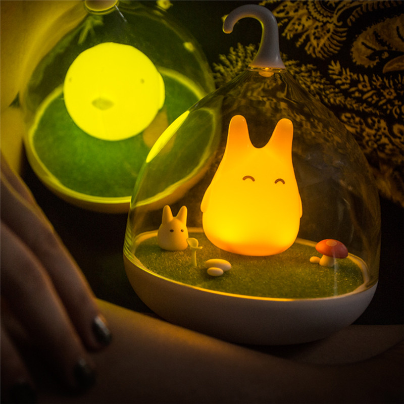 Creative USB LED Night Light Totoro cute Portable Touch Sensor light  baby Bedside Lamp For Gift Bedroom Sleep Home DecorCreative USB LED Night Light Totoro cute Portable Touch Sensor light  baby Bedside Lamp For Gift Bedroom Sleep Home Decor