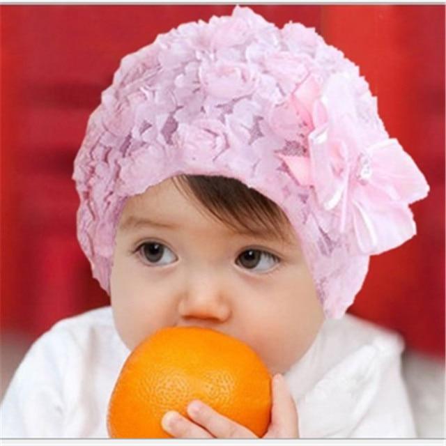 Wholesale 2pcs girls hats summer baby beanie warm christmas photography flower gifts newborn props kids handmade