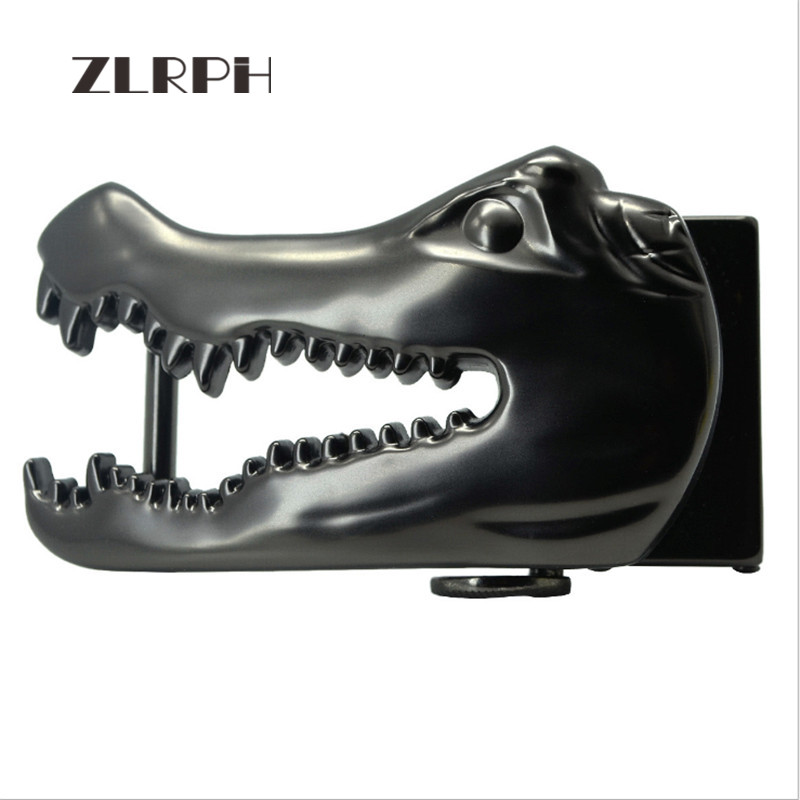 ZLRPH New Domineering Alligator Head Belt Buckle High-grade Alloy Buckle Head Belt Accessories Waist Lead Cowboy Wind