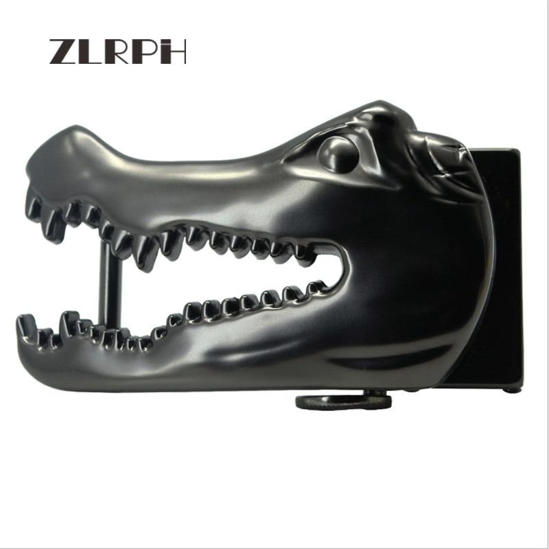 ZLRPH New Domineering Alligator Head Belt Buckle High-grade Alloy Buckle Head Belt Accessories Waist Lead Cowboy Wind