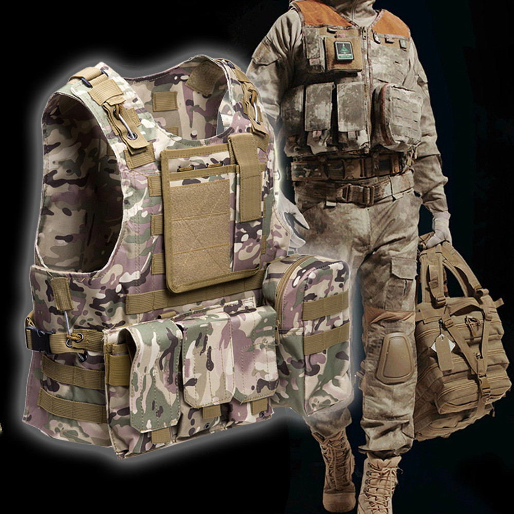 Outlife Amphibious Tactical Vest Military Molle Waistcoat Combat Assault Plate Carrier V ...