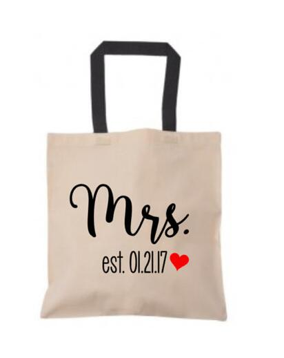 personalized honeymoon wedding bride gifts tote bags bachelorette