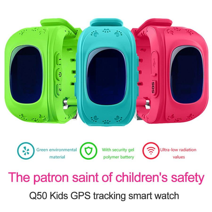 10 unids/lote Q50 GPS teléfono inteligente ver a niños chico reloj GSM GPRS localizador rastreador Anti perdido Smartwatch niño guardia por DHL-in Relojes inteligentes from Productos electrónicos    1