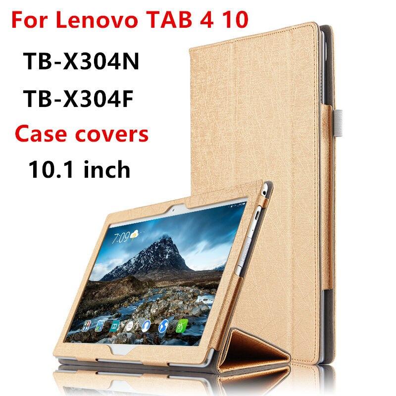 Case For Lenovo Tab 4 10 TB X304L Protective Cover Smart Leather Tab4 10 TB-X304F L Cases 10.1Tablet PU Protector Sleeve Covers чехол для lenovo tab 4 10 1 tb x304l tb x304f g case executive темно синий