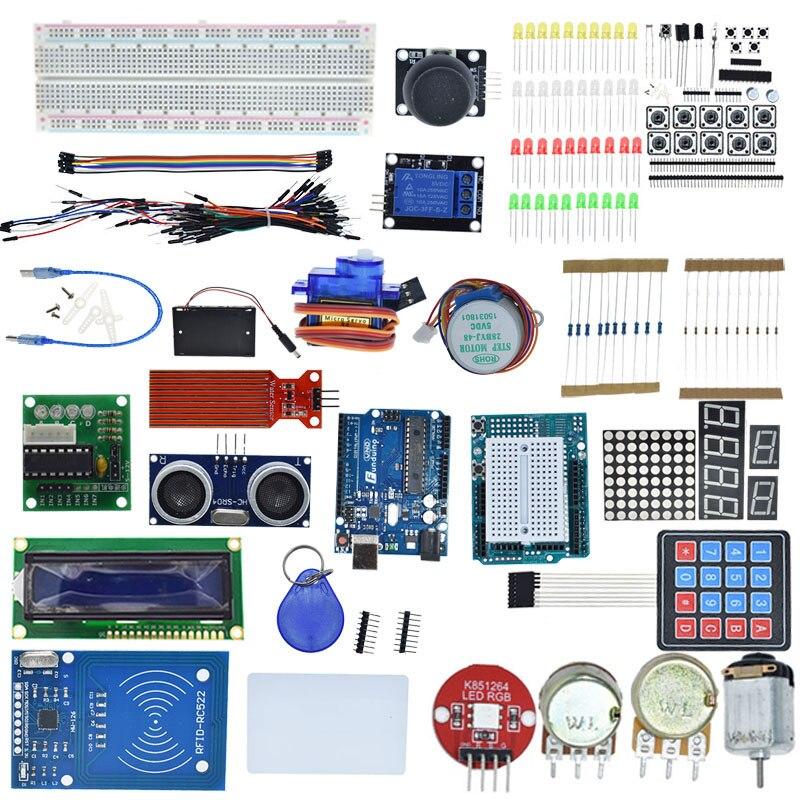 Kit de démarrage pour arduino Uno R3-Uno R3 platine de prototypage et support moteur pas à pas/Servo/1602 LCD/fil de démarrage/UNO R3 - 2