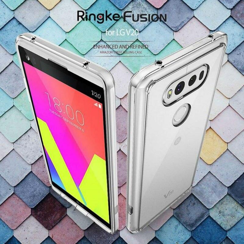bilder für Ringke Handy Fall Für LG V20 Fall Crystal Clear Zurück Abdeckung und Weichen TPU Rahmen Hybrid Tropfen Schützen
