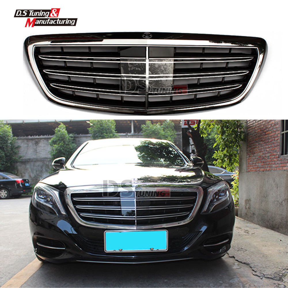 Mercedes w222 s65 style front kidney grills abs racing for Mercedes benz grills