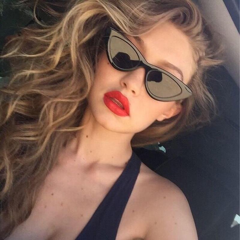 2ed6f49b34afc UV400 Mulheres Pequeno Triângulo Óculos De Sol Cateye Olho de Gato Óculos  De Sol Do Vintage Óculos De Sol 2018 Óculos de Sol Feminino Óculos de  Plástico em ...