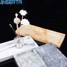JINSERTA мрамор шаблон лоток для хранения смолы ювелирные изделия десертный поднос Творческий десерт закуски, торт тарелка ресторан, обслуживающий поднос
