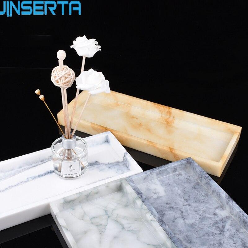 JINSERTA лоток для хранения мраморных узоров, подставка для ювелирных изделий из смолы, креативная десертная закуска, торт, ресторан, обслуживающий поднос|Лотки для хранения|   | АлиЭкспресс - Хранение украшений