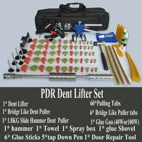 New Stainless Steel Head 1.8KG Version Slide Hammer Dent Puller Lifter Kit Car Paintless Dent Repair Hail Removal Kit PDR Tool