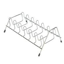 BF050 Cocina casera platos verticales estante tazón de acero inoxidable ventilación platos secos bandeja de drenaje 25 * 16 * 11 cm