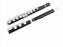 New Unique FL-660 17 Holes Open Ebony Flute Professional C Tone Musical Instrument With E Key Black Flute Free Shipping