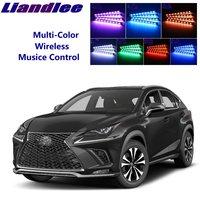 LiandLee Car Glow Interior Floor Decorative Atmosphere Seats Accent Ambient Neon light For Lexus AZ10 NX 200 240 300h 2015 2019