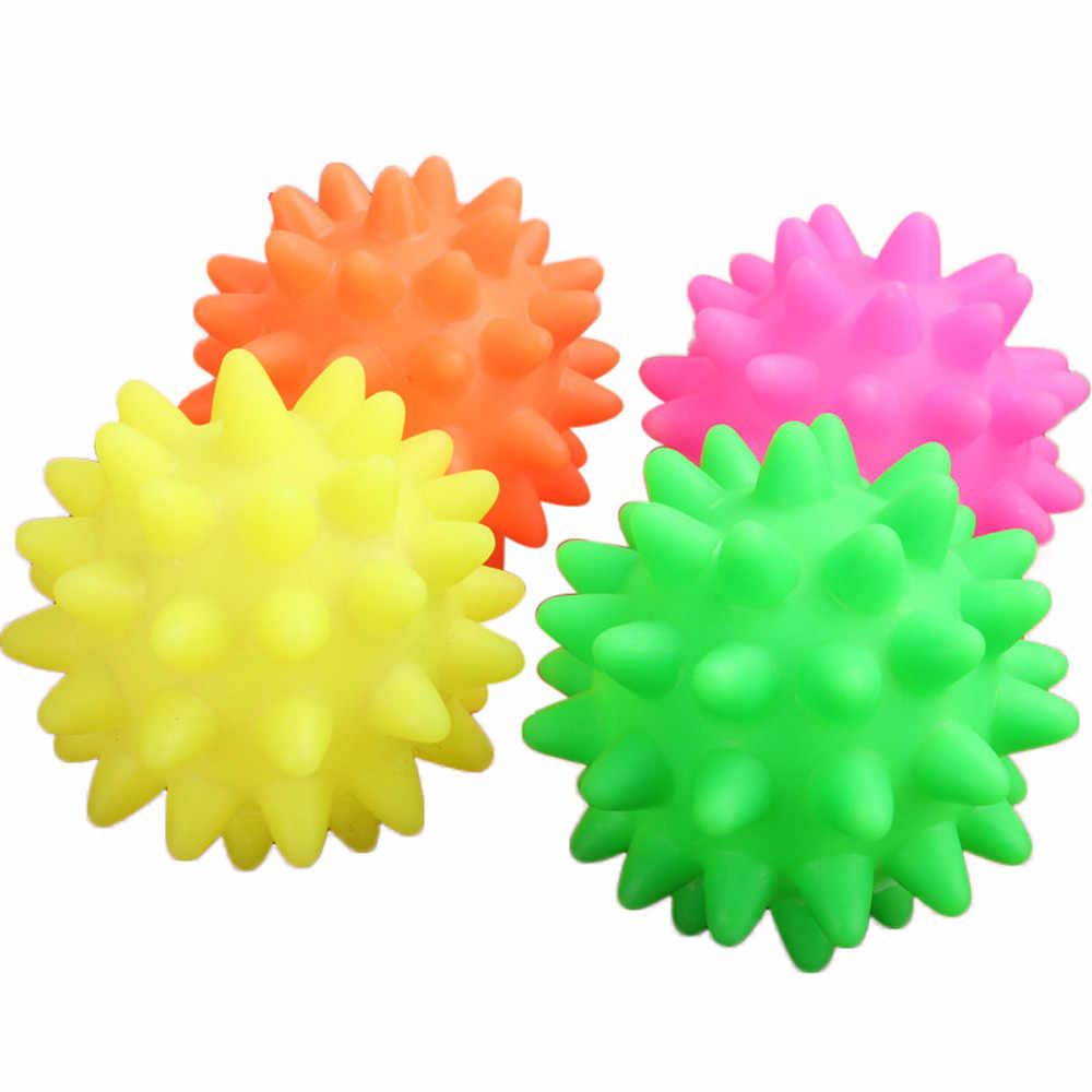Chamsgend 1 adet köpek oyuncaklar güzel yeni kauçuk topu oyuncak köpek Pet eğlenceli Spikey topu ısırma çiğneme ve oyuncaklar U61002 honden speelgoed