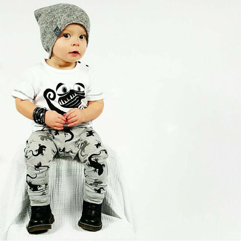 2018 New Baby Boy Clothes Caters dinosaur Cotton Shorts + Pants 2 ...