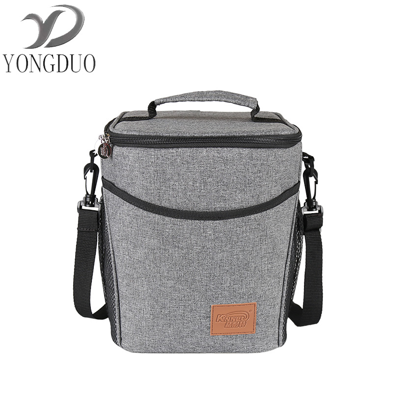 wxfbbaby  Round Lunch Box Waterproof Picnic Storage Portable Thermal Insulated Food Fresh Keep Cooler Lunch Bags Handbags For Wo denim lunch bag kid bento box insulated pack picnic drink food thermal ice cooler leisure accessories supplies product